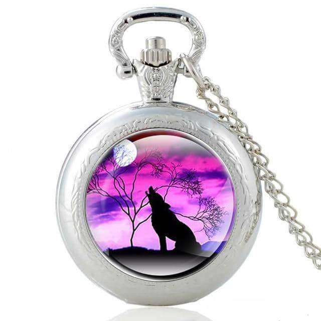 Vintage Bronze Mysterious Wolf Quartz Pocket Watch,Clock,Uunoshopping