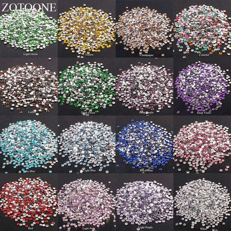 1000Pcs Rhinestones Crystal Clear Nail,nails tools,Uunoshopping