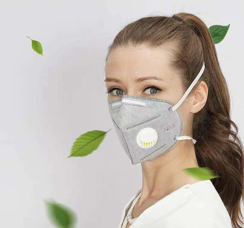 50 Pieces/DHL Free Shipping KN95 face masks with valve 7390934 filter anti-pollution N95 mask advanced filter PM2.5 dustproof mask