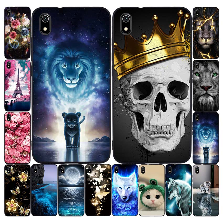 Silicone Case For Xiaomi Redmi 7a Cases Full Protection Soft Tpu Back Cover On Redmi 7 A Bumper Phone Shell Bags Coque