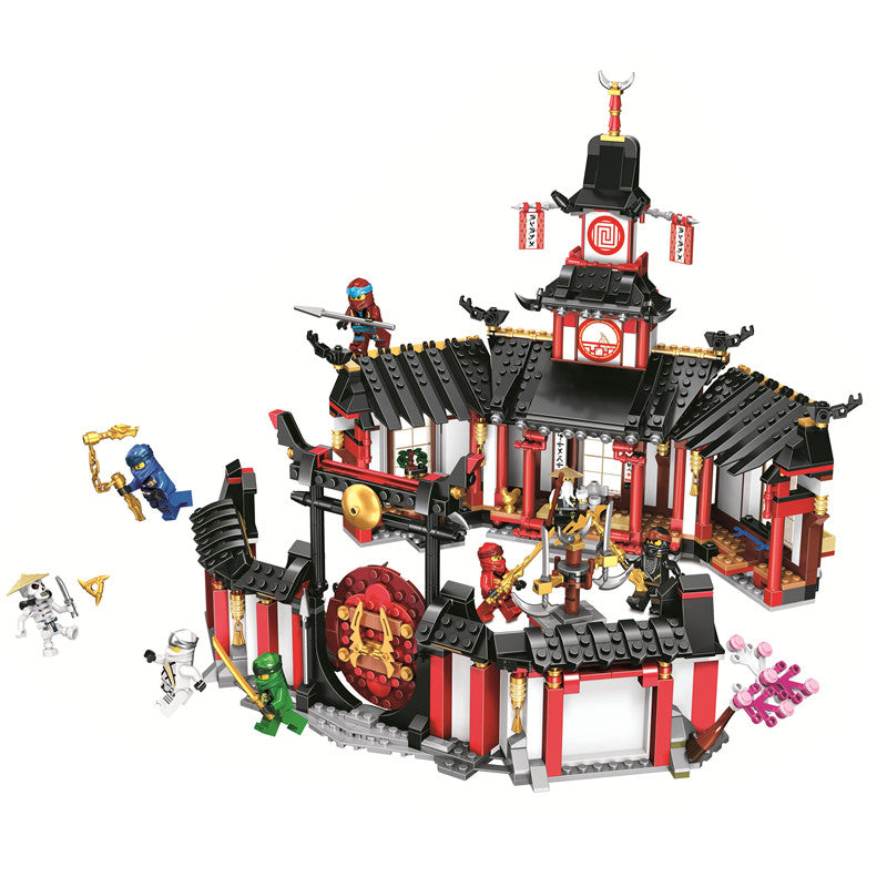 Ninjagoed Legacy Monastery of Spinjitzu Building Blocks Kit Bricks Classic Movie Ninja Model Kids Toys For Children gift (Without Box)