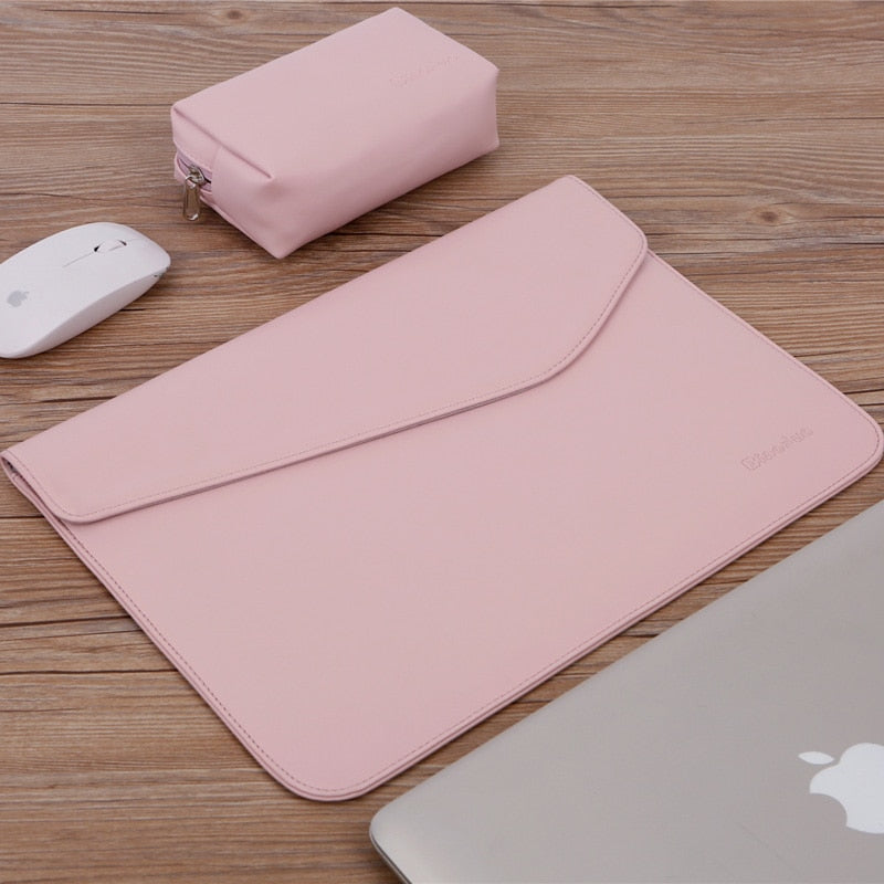 Soft PU Leather Laptop Sleeve For Macbook Air Pro 12 13.3 14 inch Laptop Bag Notebook Tablet Case For Xiami HP DELL Lenovo Cover