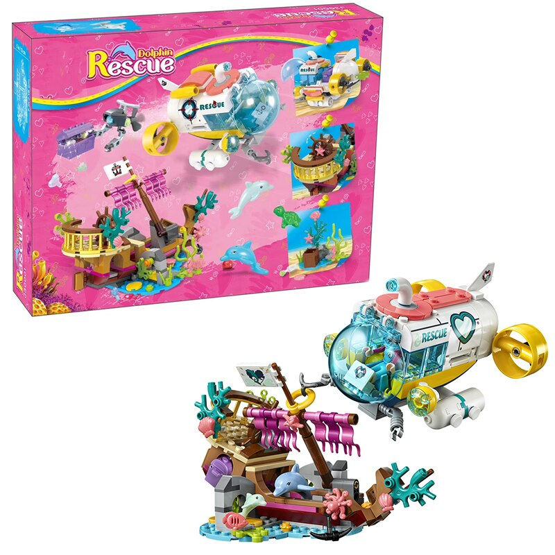 NEW Friends Set Dolphins Rescue Mission Legoinglys Friends 41378 Building Blocks Bricks Kids Toys Christmas toy Girl gifts (NO BOX)