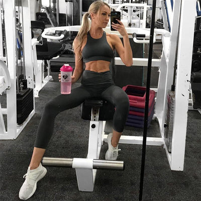 2019 Sportswear Woman Gym Clothing Sports Yoga Set Sport Bra and Legging Pants Fitness suit Sexy Workout Clothes for women