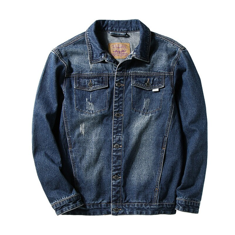 2019 New Spring And Autumn Denim Jean Casual Jacket Men Clothes Design Large ASIAN Size L-5XL 6XL 7XL