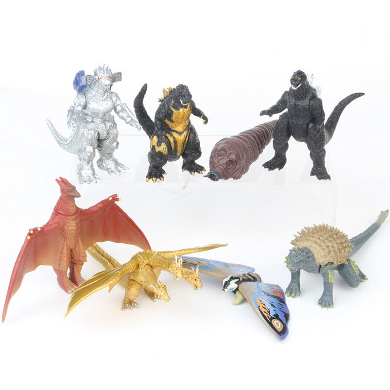 Doll Model Cartoon Movie simulation Gojira Gomora Articles dinosaur monster Kids toys Gifts 8CM Action Figures Collectible