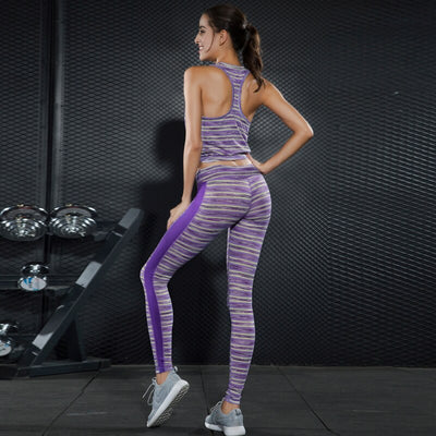 New Women Gym Clothing Yoga Suit Fitness Running Fitness Pants Exercise Vest Two-piece Fitness Clothing Set Sport Wear Women
