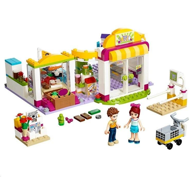 Building Block 10494 Compatible with Friends Heartlake Supermarket Emma Mia Toy For Children Kids toys gifts (No original box)