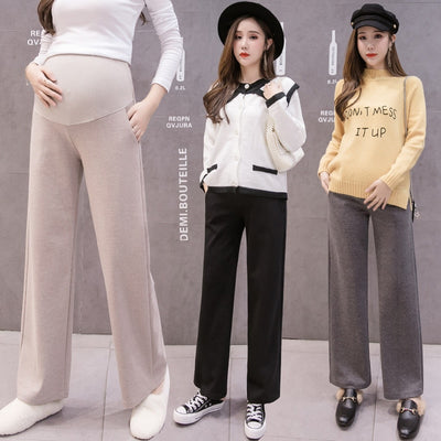 Wide Leg Female Pants Maternity Trousers For Pregnant Women Casual Loose High Waist Sport Trousers Pregnancy Pants Clothing