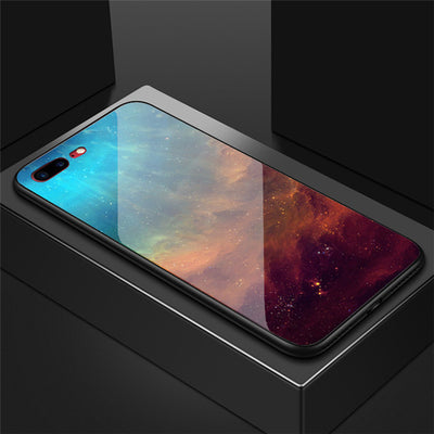 3D Starry sky Tempered Glass Case on for Samsung Galaxy S8 S9 Plus S10 Lite Note 8 9 Luxury cloud Space Colorful phone bag Cover