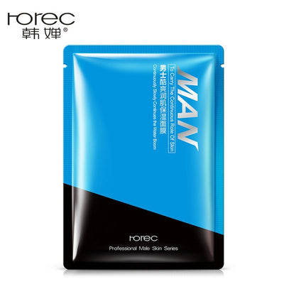 10Pcs Rorec men Facial Masks Hyaluronic Acid Essence Skin Care Deep Cleansing Purifying Pores Moisturizing oil control Face Mask