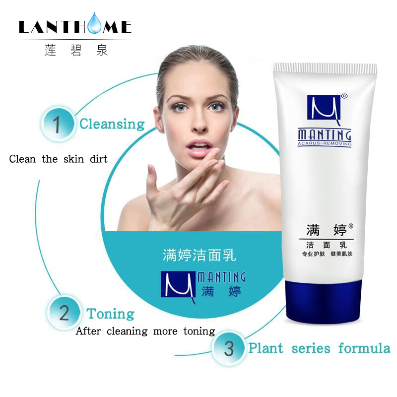 90g ManTing Face Cleanser Facial Scrub Cleansing Mite d. to mite cleanser Men and women are available Oil control acne treatment