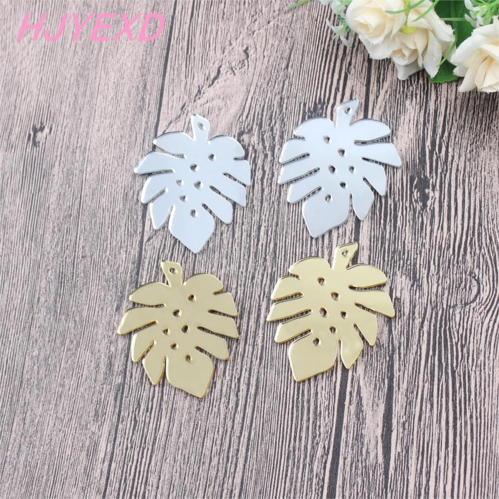 "60mm Acrylic Earrings Leaf Dangle Earrings  Matt Color Mirror Color Black White Pink Color Laser cutout 2.4""-AC1536"
