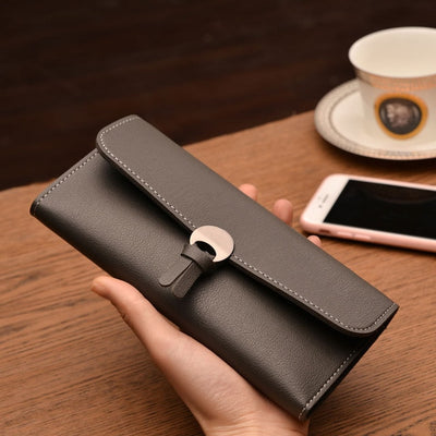 Fashion Long Women Wallets High Quality PU Leather Women's Purse and Wallet Design Lady Party Clutch Female Card Holder