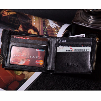 Hot Fashion Wallets for Men with Coin Pocket Wallet ID Card holder Purse Clutch with zipper Men Wallet With Coin Bag Gift