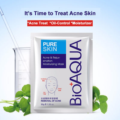 10pc BIOAQUA Treatment Facial Mask Effective Removal Acne Face Mask Moisture Nourishing Oil Control Mask Sheet For Man/Woman
