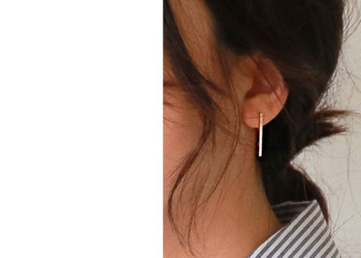 925 Sterling Silver Manual Long Line Earrings For Women Fashion Jewelry sterling-silver-jewelry pendientes