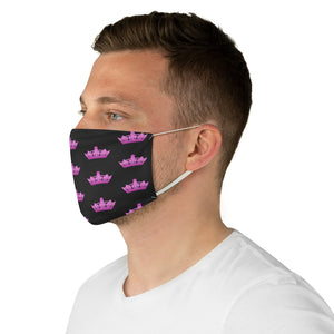 Black & Pink MGC Crown Face Mask