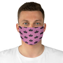 Load image into Gallery viewer, Pink & Black MGC Crown Face Mask