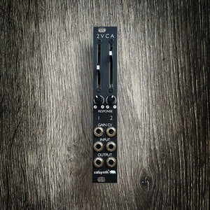 2VCA - Dual VCA - Mixer based on Mutable Veils in 4hp - Matte Black