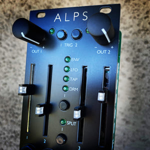 Alps - 10hp Peaks with sliders and attenuverters - Matte Black