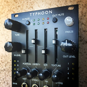 Typhoon (aka Cell) (Expanded Mutable Clouds with sliders) Matte Black PCB panel