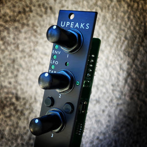 uPeaks (4hp Mutable Peaks) - Matte Black Aluminum