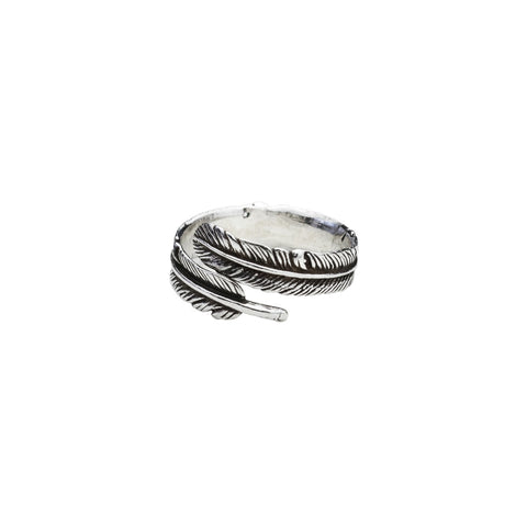 Feather Silver Ring (Free Size)