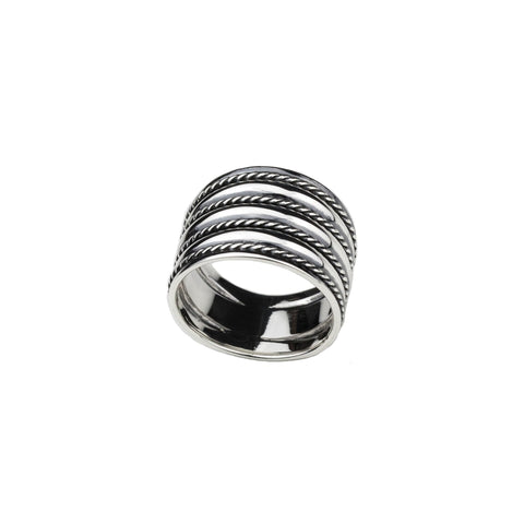 Ropes Silver Ring