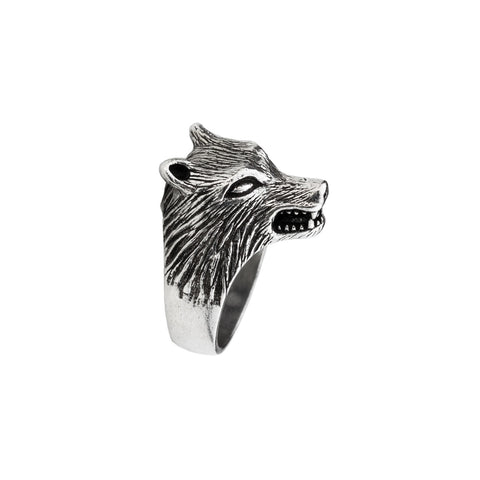 Wolf Silver Ring