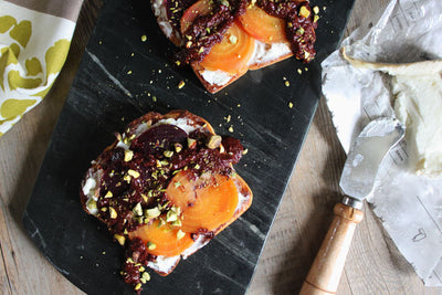 Beet & Goat Cheese Toast