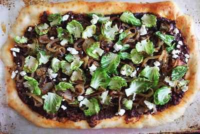Brussels Sprouts and Goat Cheese Flatbread