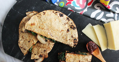 Mushroom, Spinach, & Cheese Quesadilla
