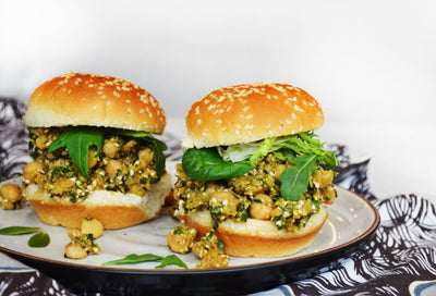 Chickpea Salad Sliders