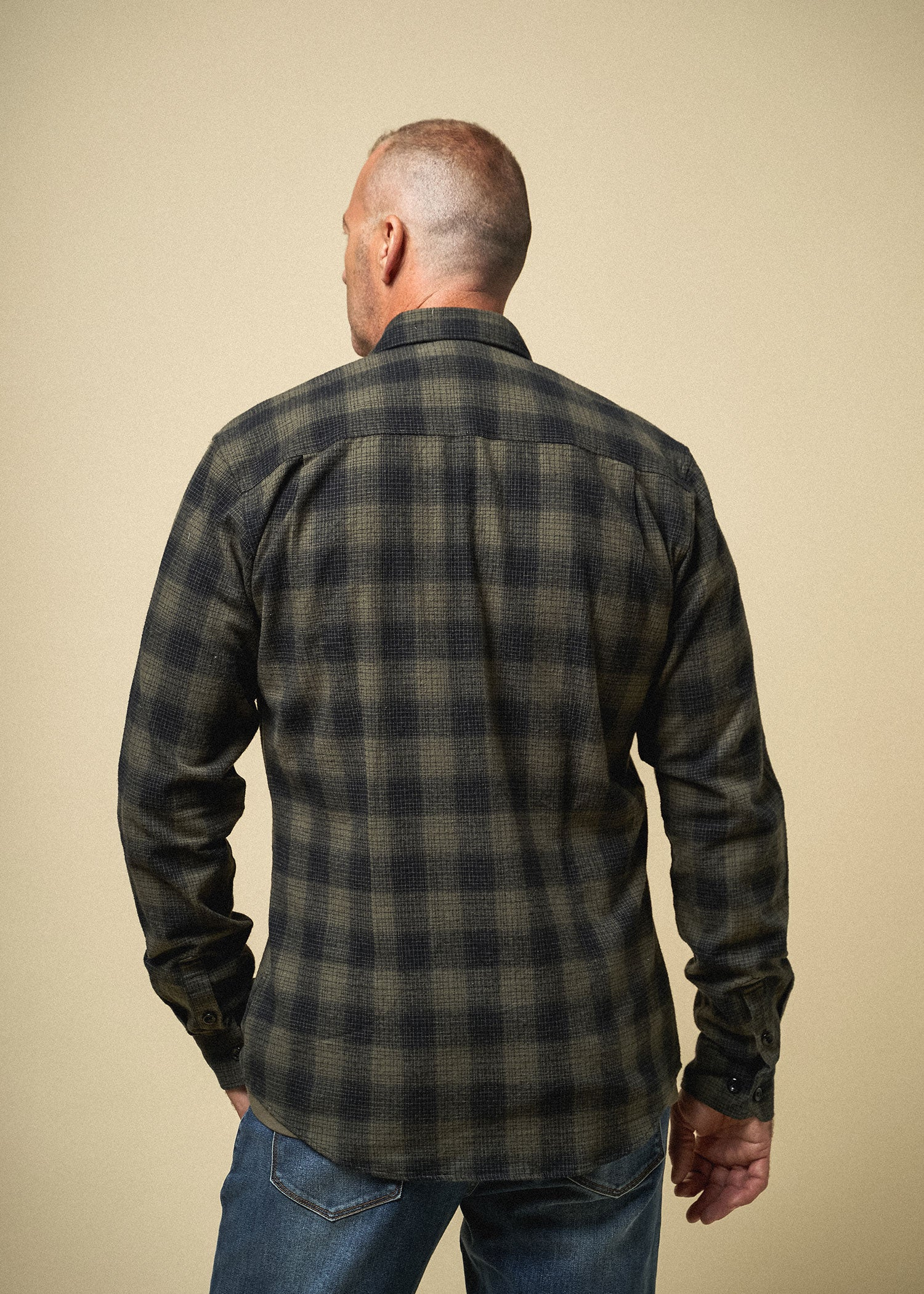 Longjohn-tallmens-heavyflannel-armyplaid-surplusgreen-back