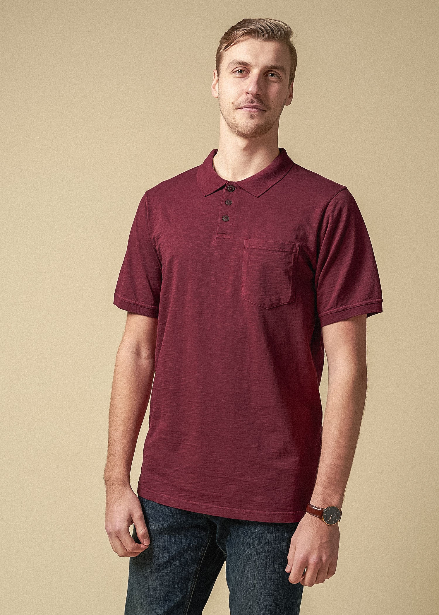 tall_mens_slub_pocket_polo_vintage_sumac_red-frontv2