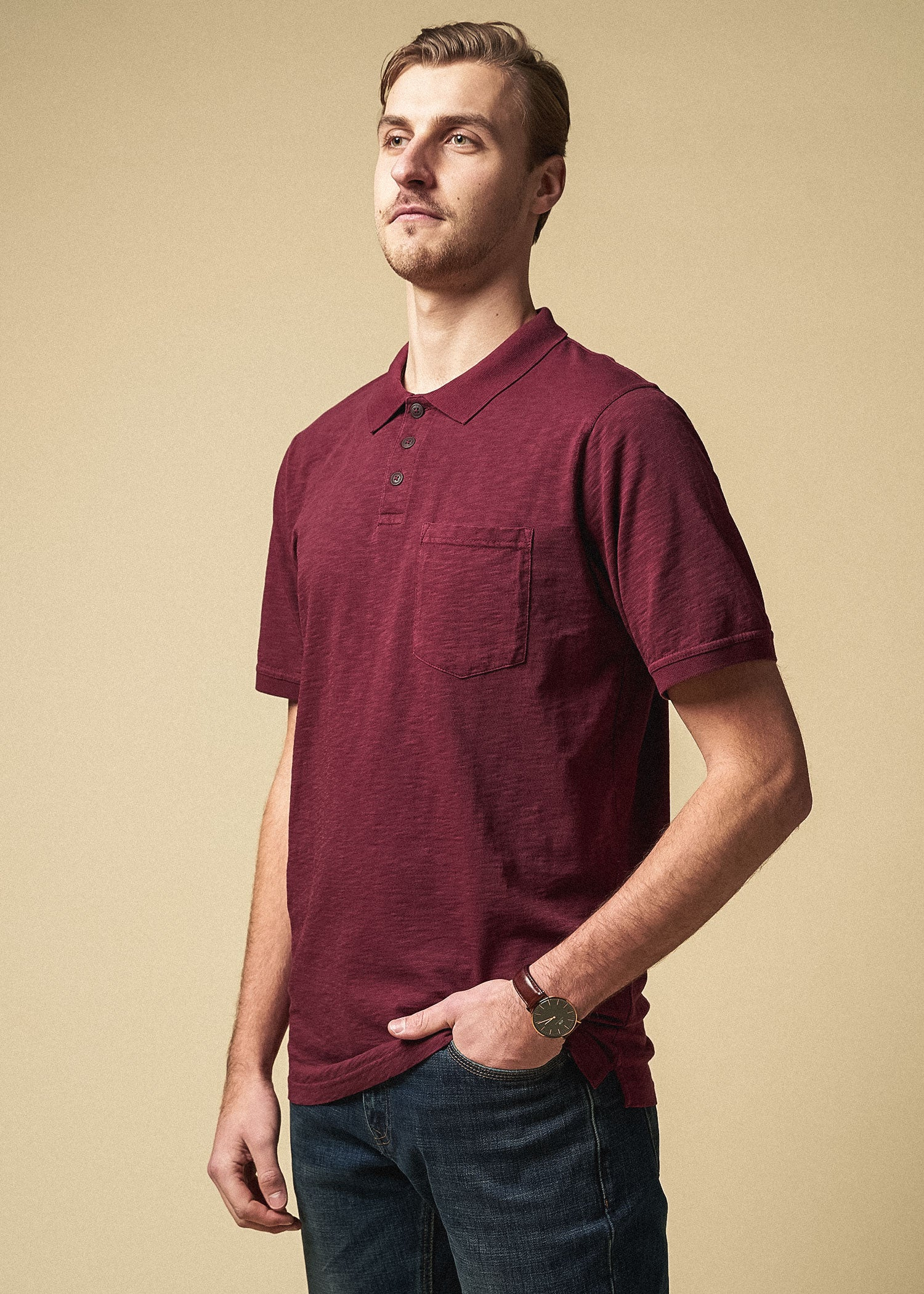 tall_mens_slub_pocket_polo_vintage_sumacred-side