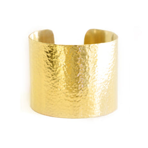 Beaten Tribal Brass Cuff | SMITH Jewellery