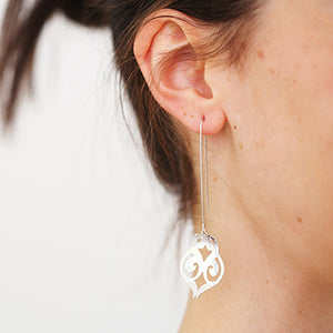 Bohemian Silver Long Earrings | SMITH Jewellery