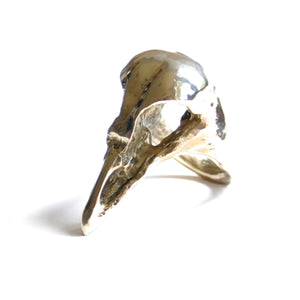 Skull Brass Ring | SMITH Jewellery