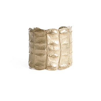Brass Croc Cuff | SMITH Jewellery
