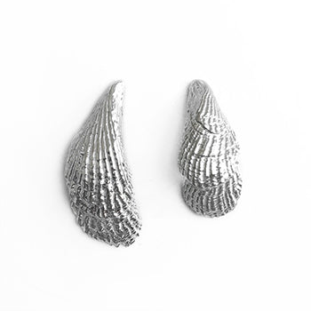 Silver Double Shell Studs | SMITH Jewellery