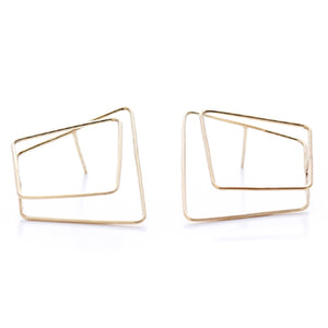 Gilt Wire Studs | SMITH Jewellery