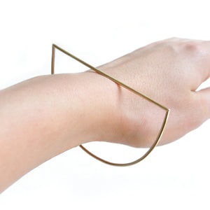 Gilt Half Moon Bangle | SMITH Jewellery