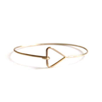 Gilt Triangle Bangle | SMITH Jewellery