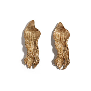 Rippled Seaweed Studs | SMITH Jewellery