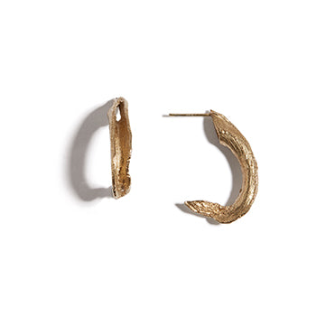 Seaweed Hoop Studs | SMITH Jewellery