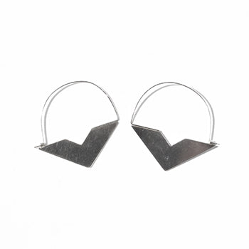 Half Diamond Silver Earrings | SMITH Jewellery