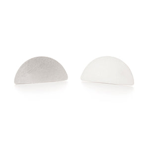 Half Moon Silver Studs | SMITH Jewellery