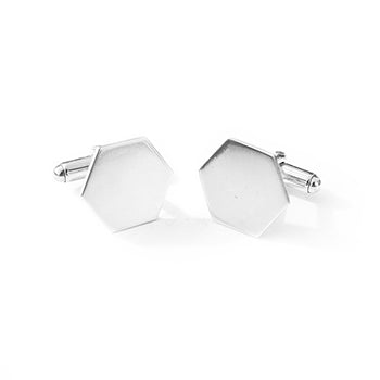Hexagon Silver Cufflinks | SMITH Jewellery